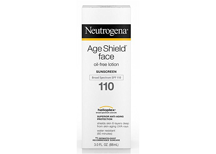 Neutrogena Age Shield Face Lotion Sunscreen with Broad Spectrum SPF 110, Oil-Free & Non-Comedogenic Moisturizing Sunscreen to Prevent Signs of Aging, 3 fl. oz - 1