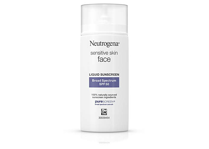 Neutrogena Face Sunscreen for Sensitive Skin from Naturally Sourced Ingredients with Zinc Oxide, Broad Spectrum SPF 50, 1.4 fl. Oz - 1