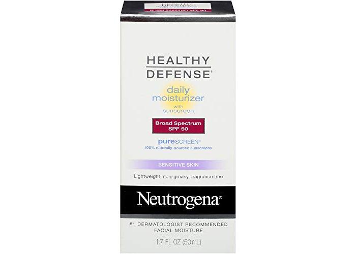 Neutrogena Healthy Defense Daily Moisturizer Sensitive Skin, SPF 50 Lotion 1.70 oz - 1