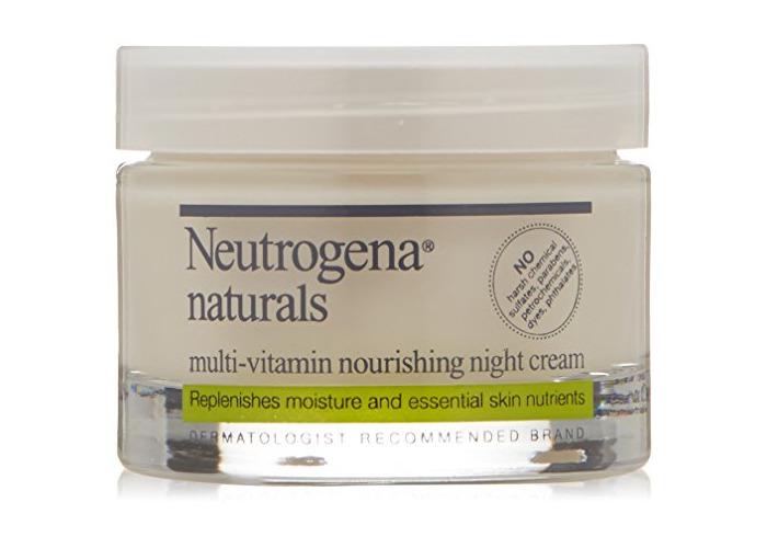 Neutrogena Naturals Multi-Vitamin Moisturizing & Nourishing Night Face Cream with Antioxidant Bionutrients & Vitamins B, C & E, Non-Comedogenic & Sulfate-, Paraben-, Phthalate- & Dye-Free, 1.7 oz - 2