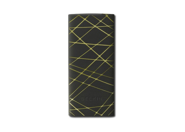 New Belkin Silicone Sleeve for iPod Nano 4G Cover Skin - Black/Yellow Vector - 1