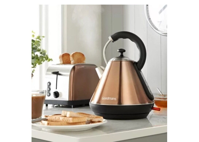 Shiny Copper Coloured Stainless Steel Pyramid Kettle Rapid Boil Hot Water Boiler
