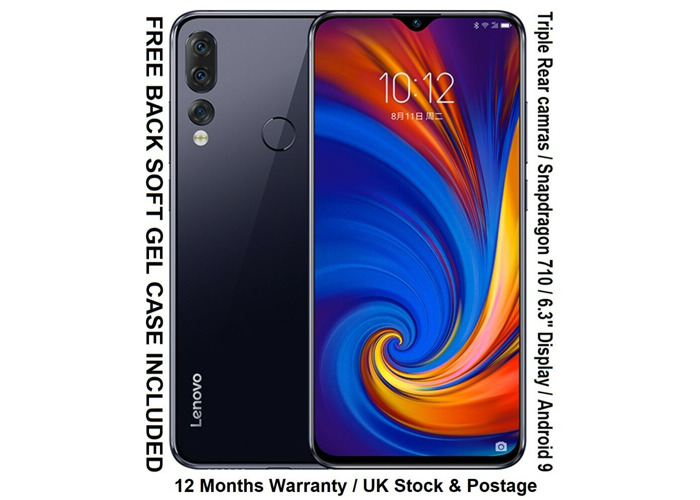 "NEW Lenovo Z5S 128GB 6.3"" Snapdragon 710 CPU Triple Cameras 6GB RAM Android 9 - 1"