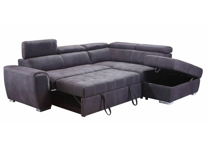 Wondrous Buy New Modern Large Grey Suede Corner Sofa Bed Cheap Onthecornerstone Fun Painted Chair Ideas Images Onthecornerstoneorg
