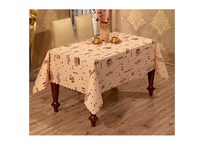 New quality polyester coffe tablecloth in different sizes ,rectangular or round (150 x 220CM) - 1