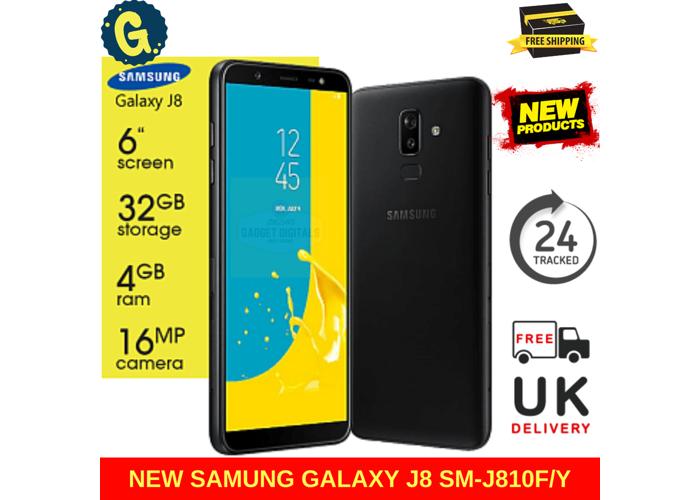 NEW Samsung Galaxy J8 2018 32GB Dual SIM Black SM-J810F Sim Free Unlocked 4G Smartphone - 1
