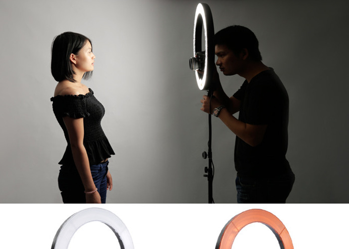 Neweer Dimmable 18 Ring Light Video Photography Lighting - 2