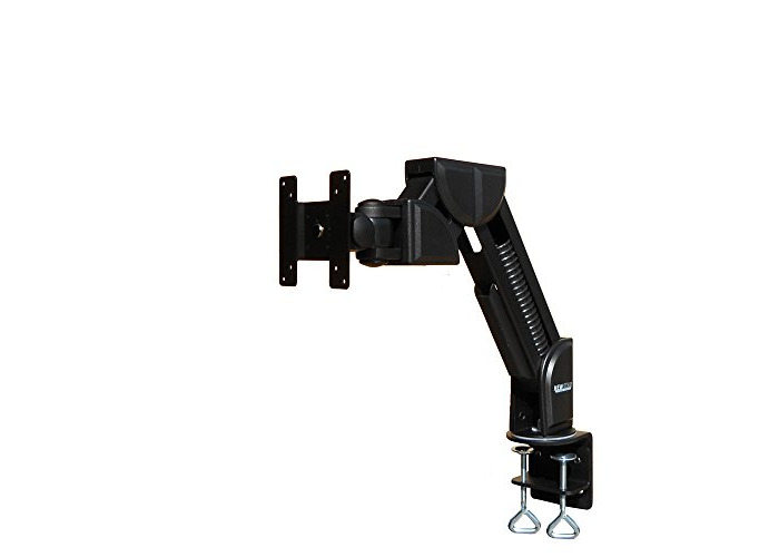 """Newstar FPMA-D600BLACK Tilt/Turn/Rotate Desk Mount (clamp) for 10-30"""" Monitor Screen, Height Adjustable - Black - 1"""