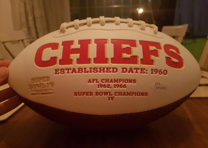NFL 2017 rushing champion Kareem Hunt signed football - 2