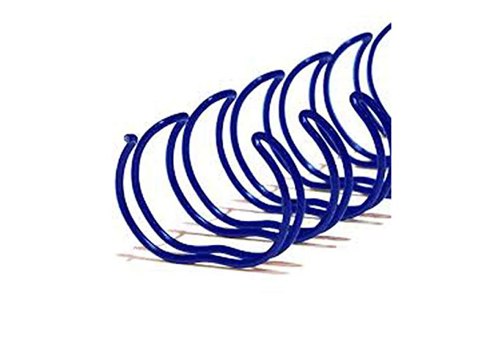 Niceday 233781.03 Loop Binding Wires A4, Blue, Spine Width 11mm Pitch 3:1, Pack of 100 - 1