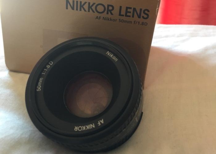 Nikkor 50mm Lens f/1.8D - 1