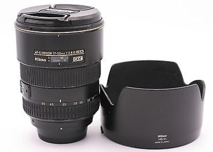 Nikon 17-55 f2.8 Zoom Lens Nikkor DX Cropped Fast - 1