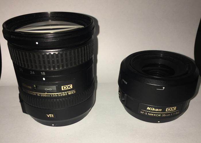 Nikon 18-200 , nikon 35mm 1.8G - 1
