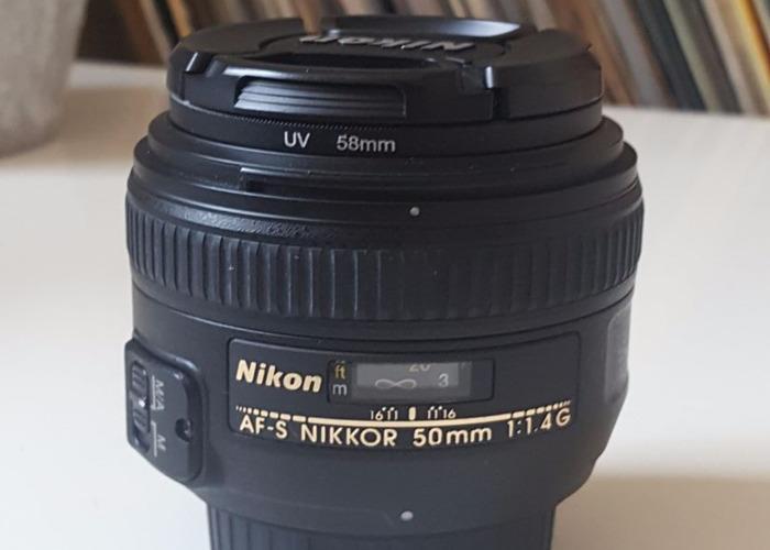 Nikon 50 mm F1.4G AF-S Nikkor Lens - 1