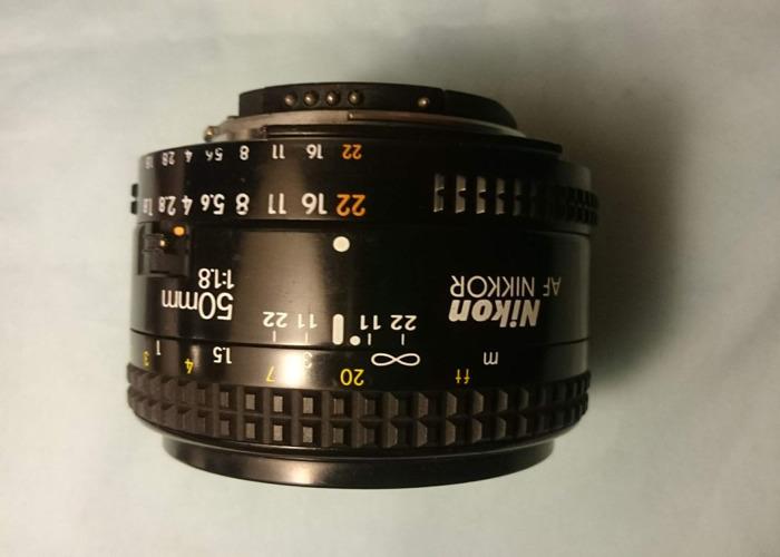 Nikon 50mm F1.8 D AF Nikkor Lens Auto Focus - 1