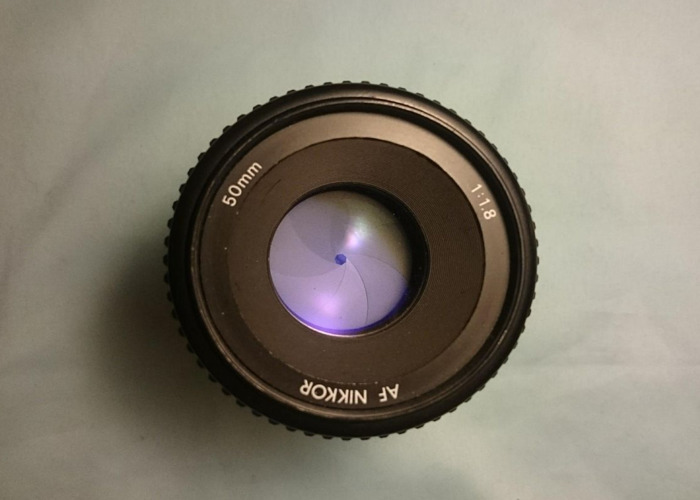Nikon 50mm F1.8 D AF Nikkor Lens Auto Focus - 2