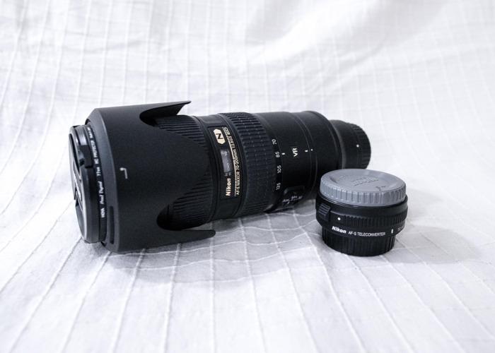Nikon 70-200mm f/2.8G ED VR II + 1.4 teleconvertor  - 1