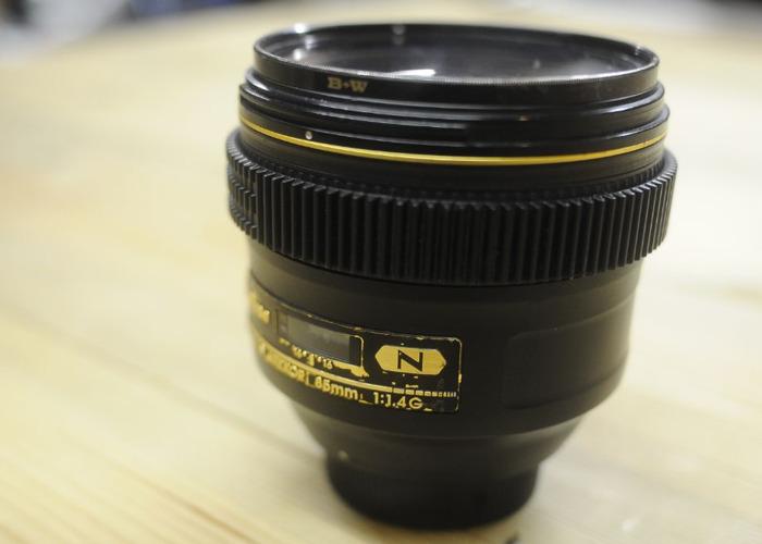 Nikon 85mm F1.4G AF (Cine gear modified) - 2