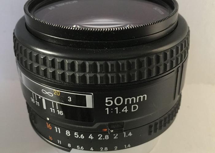 Nikon AF 50mm F1.4  D Lens - 1