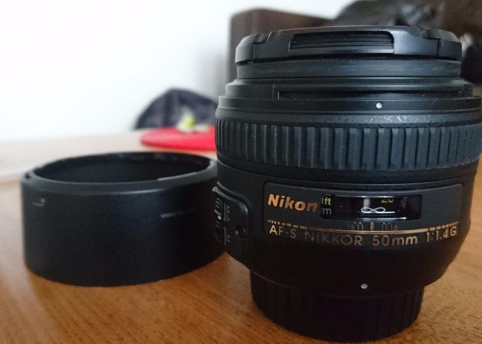 Nikon AF-S Nikkor 50mm 1:1 4G Camera Lens - 1