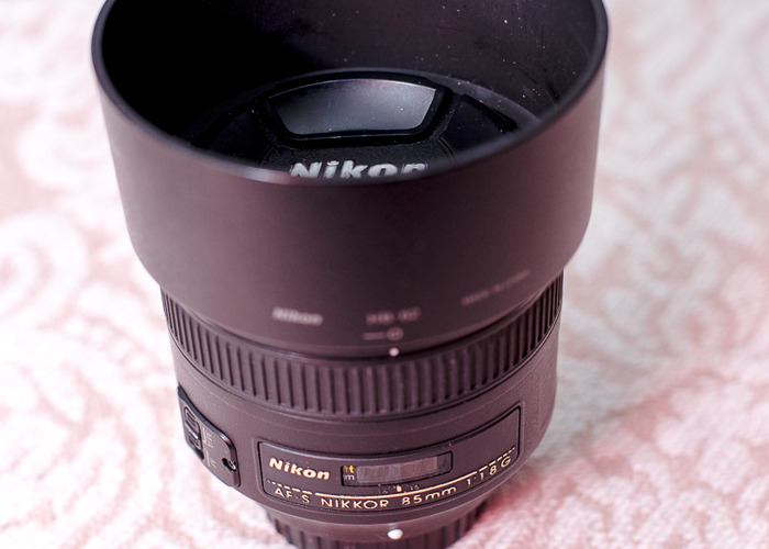 Nikon AF-S NIKKOR 85mm f/1.8G Lens, Portrait Lens - 1
