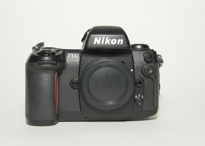 Nikon Automatic FILM SLR CAMERA F100 Body + Nikon MB-15 Battery Grip - 1