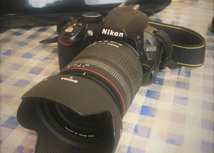 Cámara réflex digital Nikon D3100 con lente - 2