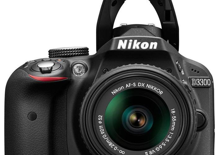 Nikon D3300 Digital SLR Camera with 18-55mm VR II Lens  - 1