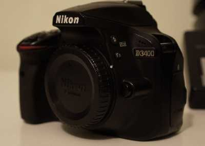 Nikon D3400 + 3 Lenses, Batteries, SD Card & More - 2