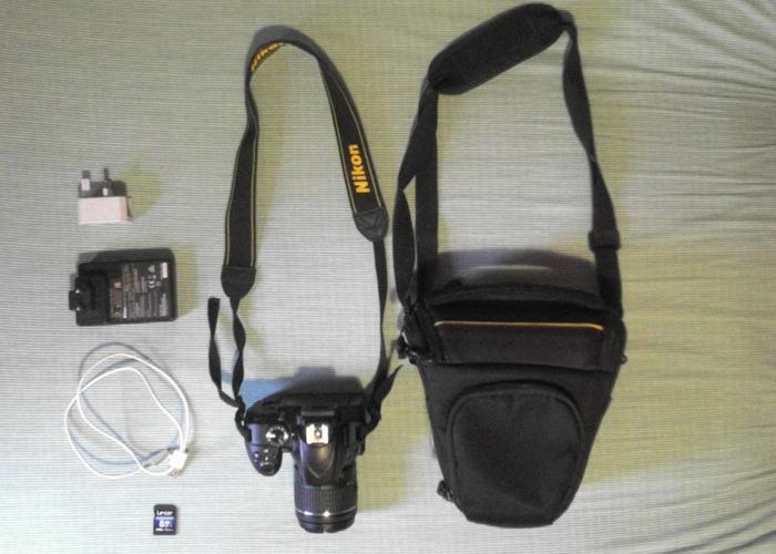 Nikon D3400, 18-55mm lens, 8GB SD HC I, USB cable, bag - 1