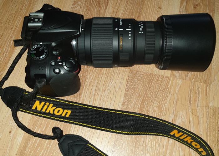 Nikon D3400 DSLR with sigma 70-300mm lens - 1