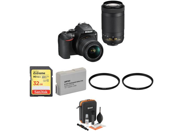 Nikon D3500 DSLR Camera with 18-55mm and 70-300mm Lenses Basic Kit - 1