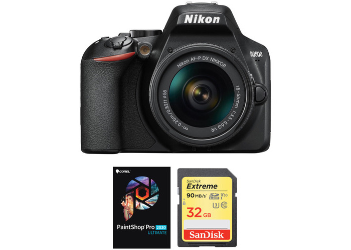 Nikon 3200 DSLR Camera with 18-55mm Lens and Accessories Kit - 1