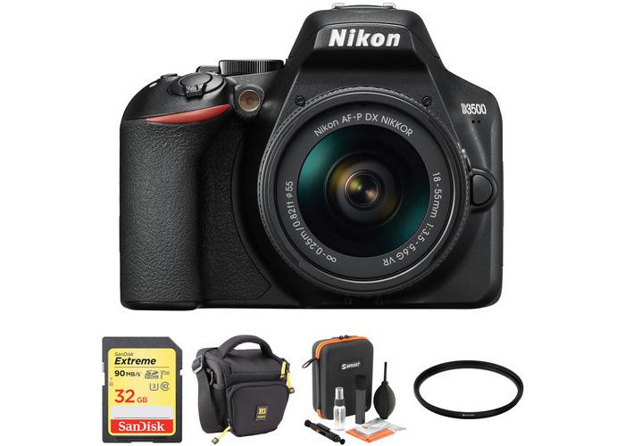 Nikon D3500 DSLR Camera with 18-55mm Lens Basic Kit - 1