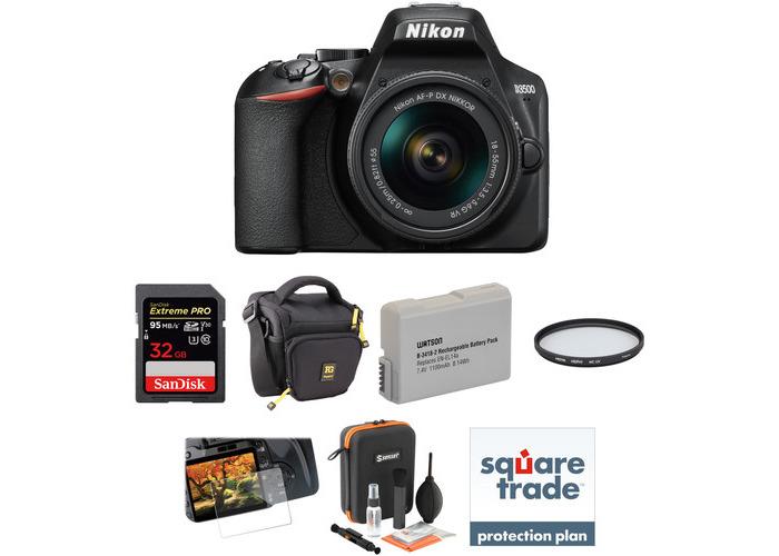 Nikon D3500 DSLR Camera with 18-55mm Lens Deluxe Kit - 2