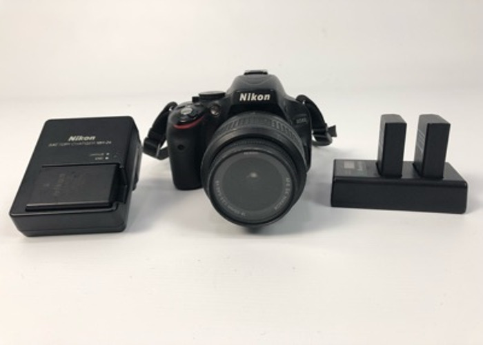 Nikon D5100 + 18-55mm + 3 Batteries + Chargers  - 1