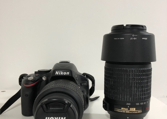 Nikon D5100 -18-55mm & 55-200mm Lenses - 2