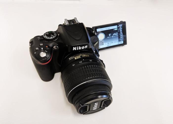 Nikon D5100 DSLR Photo & Video Camera + 18-55mm Lens - 2
