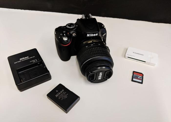 Nikon D5100 DSLR Photo & Video Camera + 18-55mm Lens - 1