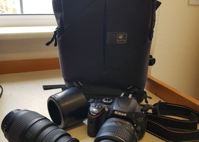 Nikon D5100 DSLR With 18-55mm and 70-300mm lens and backpack - 1