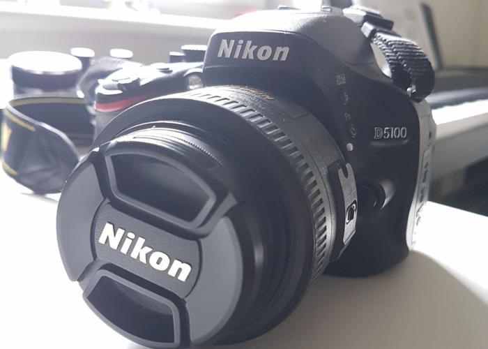Nikon D5100 Camera with 35mm f1.8 Lens - 1