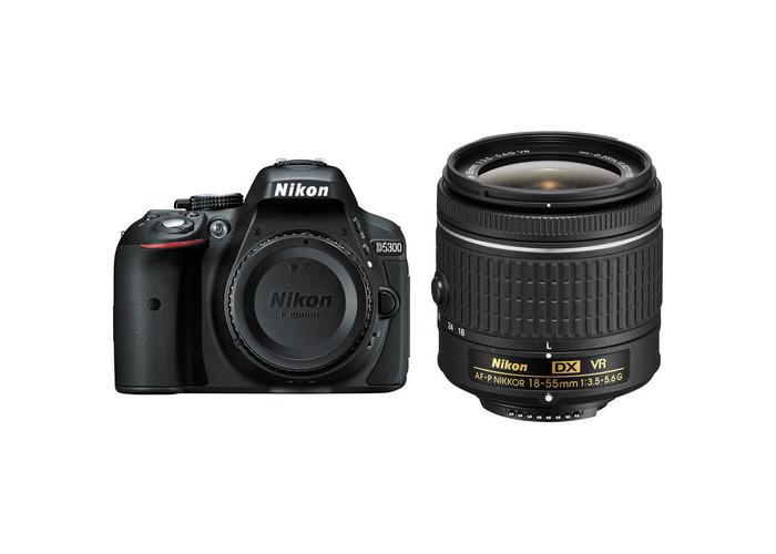 Nikon D5300 DSLR Camera with AF-P 18-55mm Lens Kit (Black) - 1