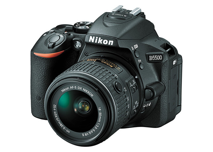 Nikon D5500 DSLR Camera with 18-55mm Lens (Black, Refurbished by Nikon USA) - 1