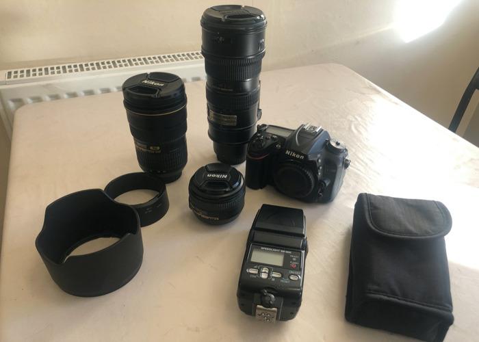 Nikon D7200 Complete Set 3 Lens Set  - 1