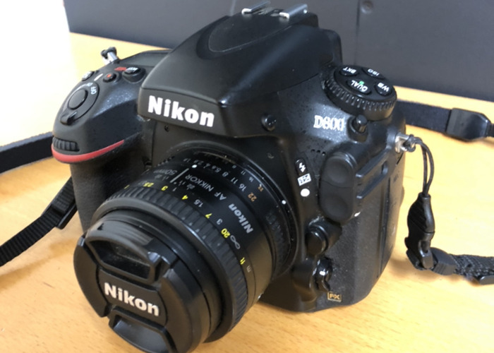 Nikon D800 Full Frame Camera Body (with 50mm 1.8D) - 1