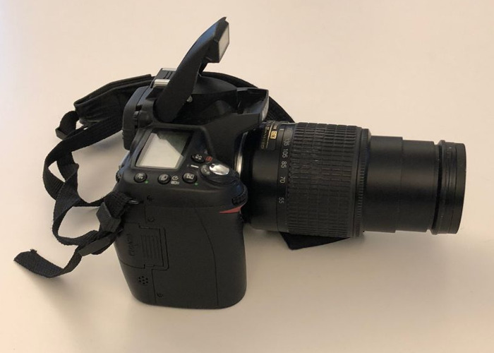 Nikon D90 + 55-200mm lens, batteries, case and SD card - 2