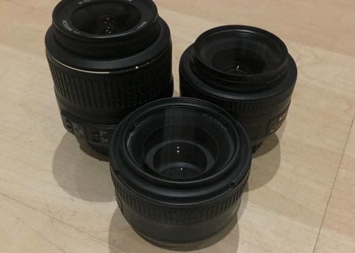 Nikon DSLR Lens Kit + Rode Microphone - 1