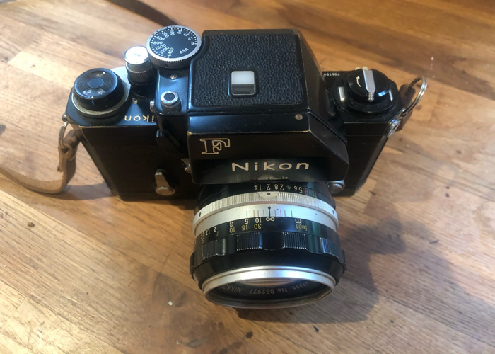 Nikon F classic film camera with 1.4 lens - 2