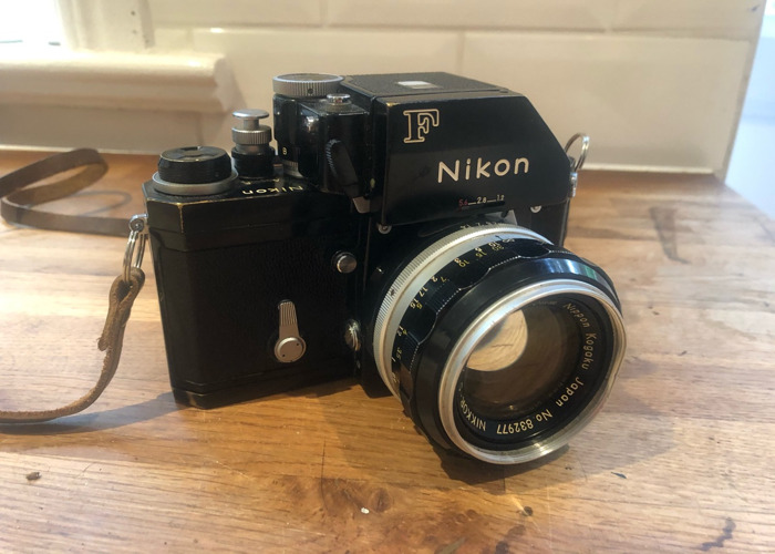 Nikon F classic film camera with 1.4 lens - 1