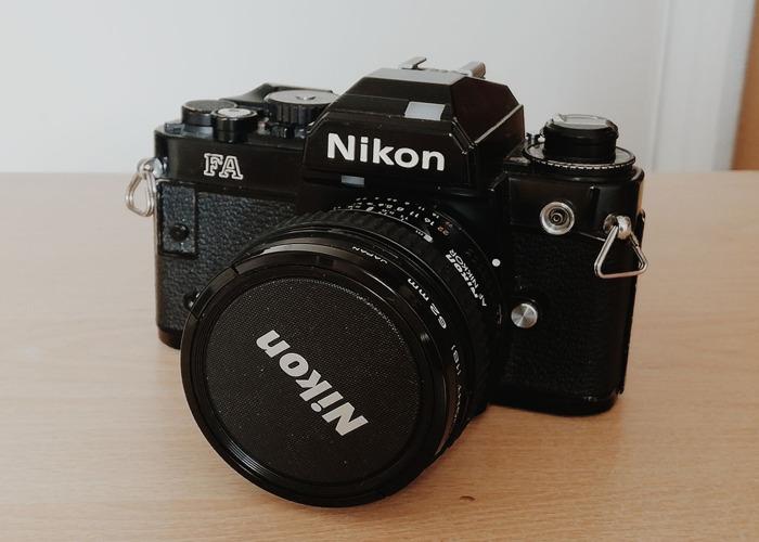 Nikon FA 35mm camera w/AF Nikkor 20mm f2.8 or 50mm f1.8 lens - 1